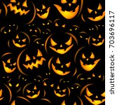 seamless halloween background... | Shutterstock .eps vector #703696117