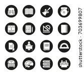school and education glyph... | Shutterstock .eps vector #703699807