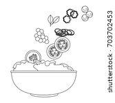 healthy salad icon | Shutterstock .eps vector #703702453
