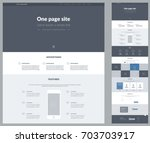 one page website design... | Shutterstock .eps vector #703703917
