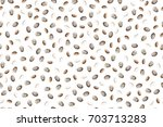 chia seeds vector seamless... | Shutterstock .eps vector #703713283