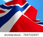 norway flag. 3d waving flag... | Shutterstock . vector #703722457