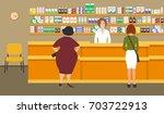 web banner of a pharmacist.... | Shutterstock .eps vector #703722913