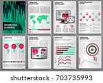 abstract vector business... | Shutterstock .eps vector #703735993