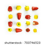 set of red and yellow sweet... | Shutterstock . vector #703746523