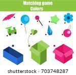 educational children game.... | Shutterstock .eps vector #703748287