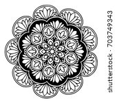 mandalas for coloring book.... | Shutterstock .eps vector #703749343