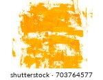 yellow acrylic grunge banner.... | Shutterstock . vector #703764577