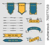 styled memphis ribbons  labels  ... | Shutterstock .eps vector #703777153