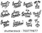 set of summer time lettering... | Shutterstock .eps vector #703779877