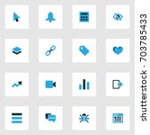 interface colorful icons set....