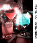 party drinks | Shutterstock . vector #703788553