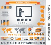 business training icon set and... | Shutterstock .eps vector #703797043