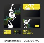 corporate identity. the layout... | Shutterstock .eps vector #703799797