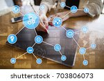 automation concept as an... | Shutterstock . vector #703806073