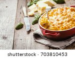 mac and cheese  american style... | Shutterstock . vector #703810453