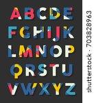 alphabet isolated. alphabet... | Shutterstock .eps vector #703828963