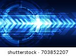 vector digital speed technology ... | Shutterstock .eps vector #703852207