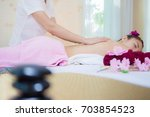 beautiful young woman relaxing... | Shutterstock . vector #703854523
