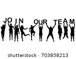 people silhouettes holding... | Shutterstock .eps vector #703858213