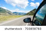 driving view from side of car...   Shutterstock . vector #703858783