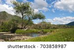 gorgeous landscape with...   Shutterstock . vector #703858987