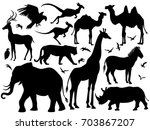 Visual Drawing Silhouette Of...