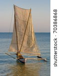 malagasy outrigger pirogue with ...
