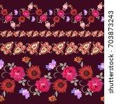 luxury seamless floral pattern... | Shutterstock .eps vector #703873243