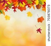 autumn  fall card  invitation... | Shutterstock .eps vector #703878373