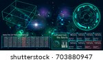 radar screen. vector... | Shutterstock .eps vector #703880947