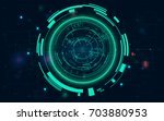 radar screen. vector... | Shutterstock .eps vector #703880953