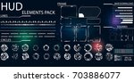 elements for hud interface | Shutterstock .eps vector #703886077