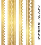 gold lace | Shutterstock .eps vector #70390240
