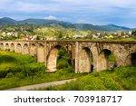 old railway bridge  old viaduct ... | Shutterstock . vector #703918717