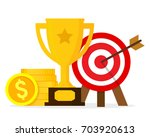 goals and achievements concept. ... | Shutterstock .eps vector #703920613