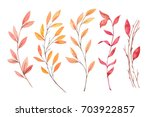 hand drawn watercolor... | Shutterstock . vector #703922857