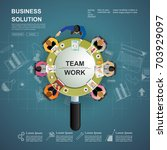 idea concept for business... | Shutterstock .eps vector #703929097