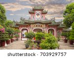 hoi an chinese temple in sunset | Shutterstock . vector #703929757