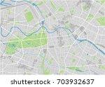 vector city map of berlin with... | Shutterstock .eps vector #703932637