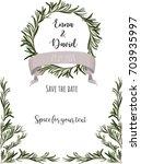 wedding invitation template.... | Shutterstock .eps vector #703935997