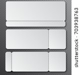 white clear ticket template... | Shutterstock .eps vector #703938763