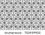 ornament with elements of black ... | Shutterstock . vector #703939903
