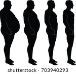 men silhouette losing weight  ... | Shutterstock .eps vector #703940293