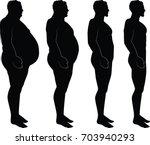 men silhouette losing weight  ... | Shutterstock .eps vector #703940293
