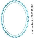 blue oval photo frame border... | Shutterstock .eps vector #703942783