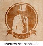 gentleman in one suit round...   Shutterstock .eps vector #703943017