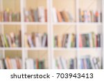 Abstract Blurred Bookshelves...
