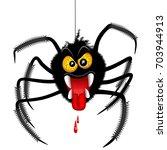 halloween spider spooky cartoon ...