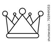 kievan rus crown icon. outline...